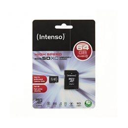 Memory Card microSD INTENSO 64GB CLASS 10