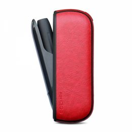 SENSO LEATHER CASE FOR iQOS 3.0 red