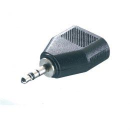 VIVANCO AUDIO ADAPTER 3.5mm JACK TO 2X 3.5mm JACK black