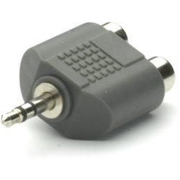 VIVANCO AUDIO ADAPTER 3.5mm PLUG TO 2X RCA SOCKET black