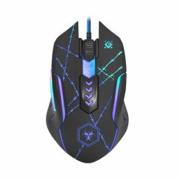DEFENDER GM-020L FORCED WIRED GAMING OPTICAL MOUSE 3200dpi 6 BUTTONS