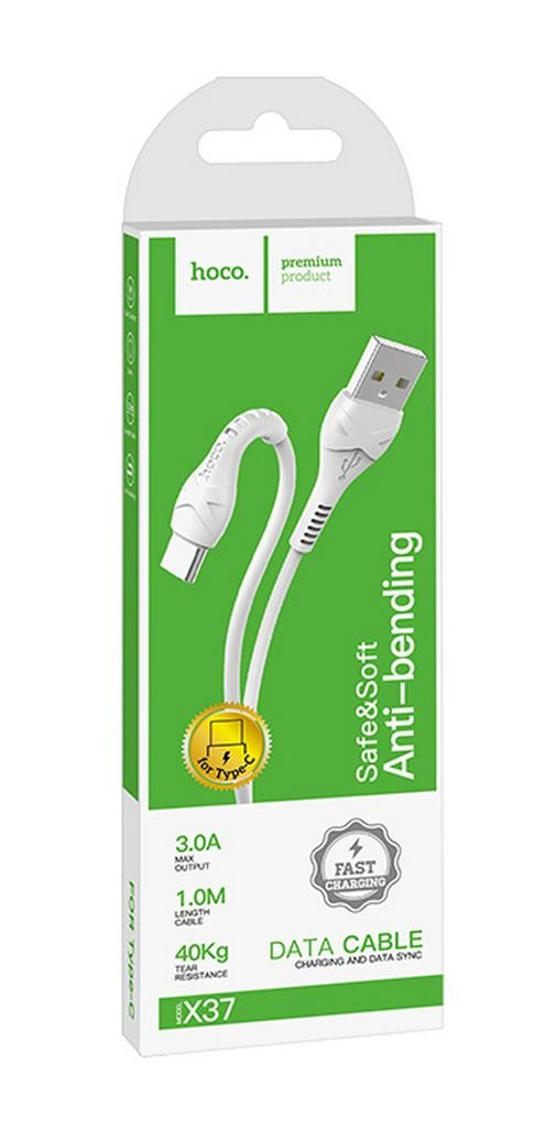 Καλώδιο σύνδεσης Hoco X37 Cool Power USB σε Type-C Fast Charging 3.0A Λευκό 1μ